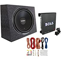 Rockford Fosgate R1S4-10 10 300W Subwoofer + Sealed Box + Mono Amp + Wiring Kit