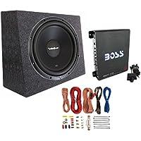 Rockford Fosgate R1S4-12 12 300W Subwoofer + Sealed Box + Mono Amp + Wiring Kit