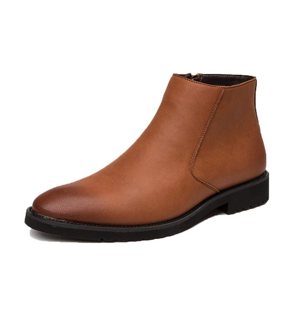 ZHRUI Wasserdichte Stiefeletten für Männer Durable Non Slip Weiche Sohle Sohle Sohle Stiefel Winter Herbst (Farbe   Braun, Größe   EU 39) c71d22
