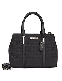 Kenneth Cole Reaction Womens Harriet Faux Leather Triple Entry Satchel Handbag