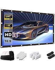 Keenstone Projectiescherm 150 Inch 16: 9 - 4K HD Anti-rimpel Opvouwbaar Draagbaar Wasbaar, Home Theatre-Projectorscherm, Dubbelzijdige Standaard, Projectie met Hoog Contrast