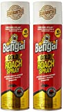 Bengal Roach Killer, 11 oz, Can, Viscous Liquid, Brown, Mild Ethereal, Spray 2 pack