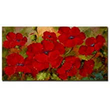 Trademark Fine Art Poppies by Master's Art Canvas Wall Art, 12x24-Inch