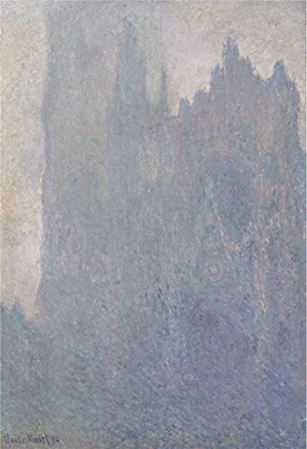 Oil Painting 'Claude Monet - The Cathedral In The Mist, 1894', 24 x 35 inch / 61 x 89 cm , on High Definition HD canvas prints is for Gifts And Dining Room, Gym And Nursery Decoration