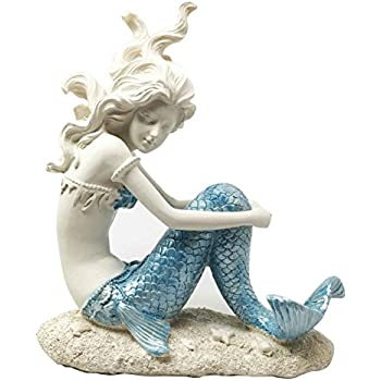 beautiful ocean atlantis goddess lovesick princess mermaid sitting figurine collectible home decor sculpture - Mermaid Home Decor