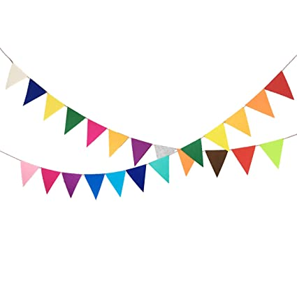 Fashion Felt Flags Garland Banner Home Party Hanging Decor Ball Photo Prop