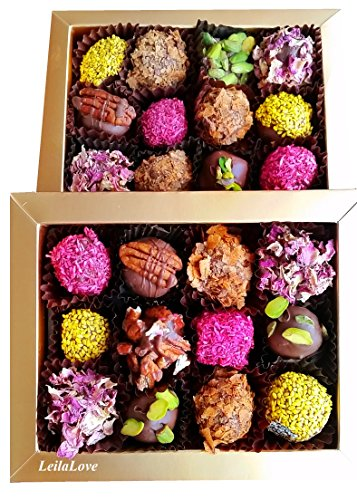 Price comparison product image Date and nuts truffles - 12 pieces box