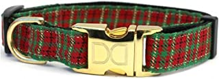 product image for Diva-Dog 'Alpine' Plaid Custom Engraved Dog Collar