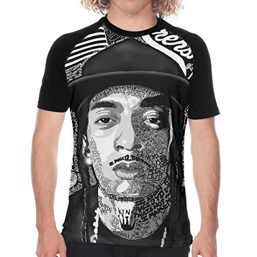 CUSARTSHOP Men's Casual Short Sleeve Baseball Tshirt Raglan Jersey Shirt, Nipsey Hussle Last Tweet Black