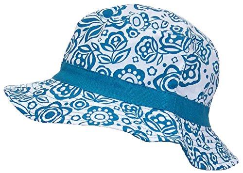 Solid Wing Reversible Summer Floppy Bucket Hat W/Hawaiian Designs (One Size) - Teal (Women Blue Bucket Hats)