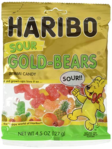 Haribo Sour Gold-Bears Gummi Candy Bag (4.5 oz/127g) (2 Bags)