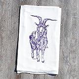 Kitchen Tea Towel Purple Goat