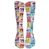 6 crazy horse service boot - SARA NELL Men Women Funny Novelty Socks Geometric Polygonal Animals Horse Lion Crew Socks Classic Sport Athletic Socks 40Cm Long Tube Socks Stockings-Best Gift Sock