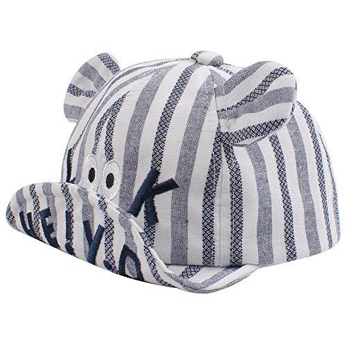 BAVST Baby Baseball Cap for Boys & Girls Toddler Trucker Hat Lightweight Bear Animal Kids UV Protection Sun Hat for 1-4T - Spring Trucker