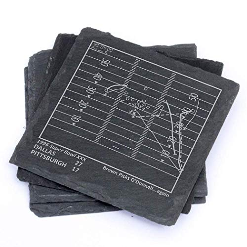 Greatest Cowboys Plays - Slate Coasters (Set of 4)