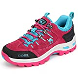 Camel Crown Walking Shoe for Women Hiking Walking,Red,8 B(M) US