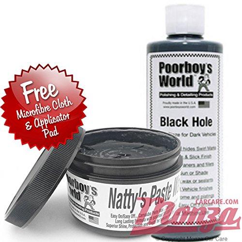 Poorboys Dark Kit Nattys Black Paste Wax & Black Hole Glaze Polish Complete Kit