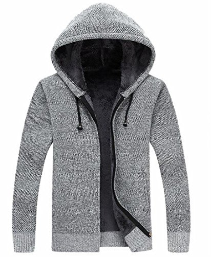 Arsenal Hooded Fleece - Generic Men's Fleece Hoodies Thick Wool Warm Winter Jacket Coats 3 XL
