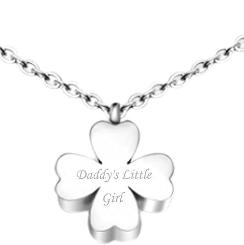 Amazon.com  Women s Fashion Charm Stainless Steel Flower Pendant ... 56d9b8425b