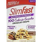 Slim Fast Advanced Nutrition Drizzled Crisps Snacks, Cinnamon Bun Swirl,1 oz Bag (Pack of 5)