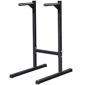 Yaheetech Heavy Duty Dip Stand Parallel Bar Bicep Triceps Home Gym Dipping Station Dip Bar Power Tower Capacity: 500 Lb