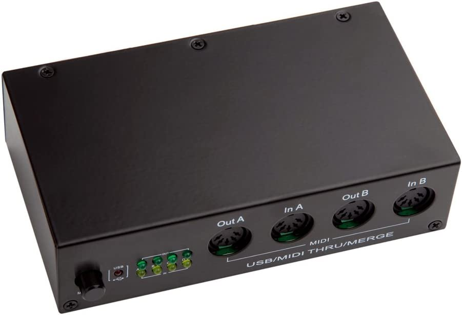 with MIDI Thru Function DigitalLife 64 Channel 4 In 4 Out MIDI USB Interface Box 1 In 4 Out