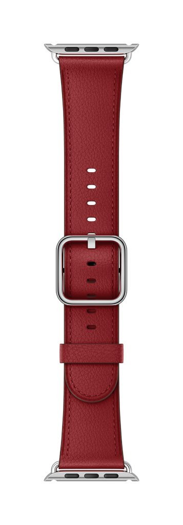 Apple Classic Buckle Smartwatch Replacement Band for Watch Series 1, Watch Series 2, Watch Series 3 - 38mm - Ruby (Product)RED