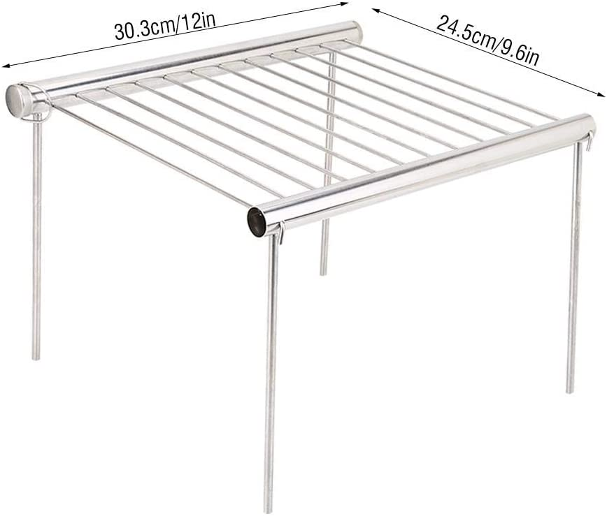 VGEBY1 Grill Rack, Grill Shelf Acero Inoxidable Barbacoa Grill ...