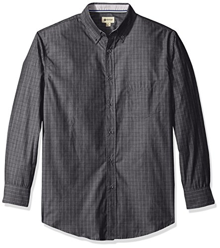 Haggar Sleeve Mini Windowpane Woven Shirt
