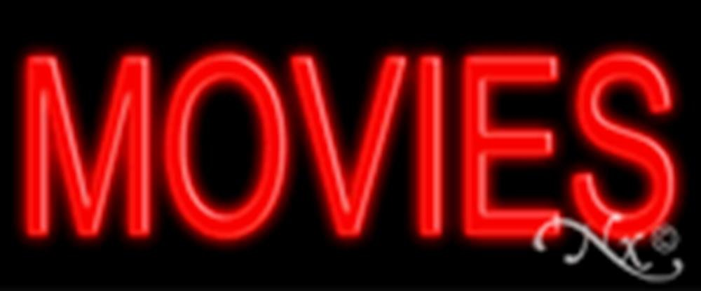 24x10x3 inches Movies NEON Advertising Window Sign