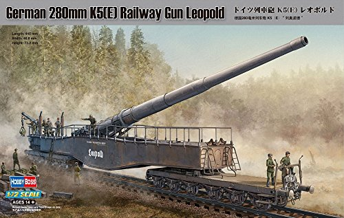 Hobby Boss 280mm K5(E) Railway Gun Leopold Vehicle Model Building (Railroad Gun)