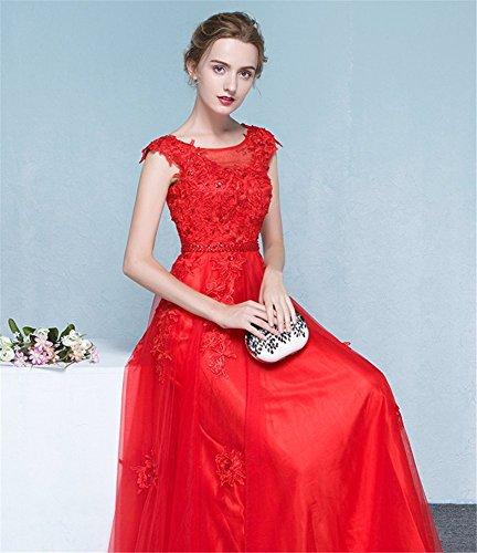 Red Vestito Donna Impero Drasawee Stile YdaqwaxC