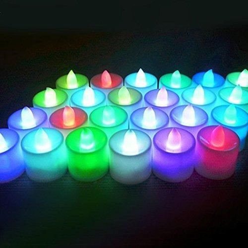 Vela sin llama LED parpadeante luz té cumpleaños batería ...