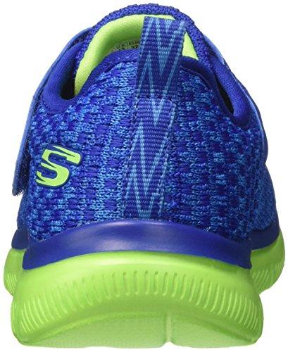Skechers Jungen Flex Advantage 2.0-Quick Jolt Sneaker Blau (Blue/lime)
