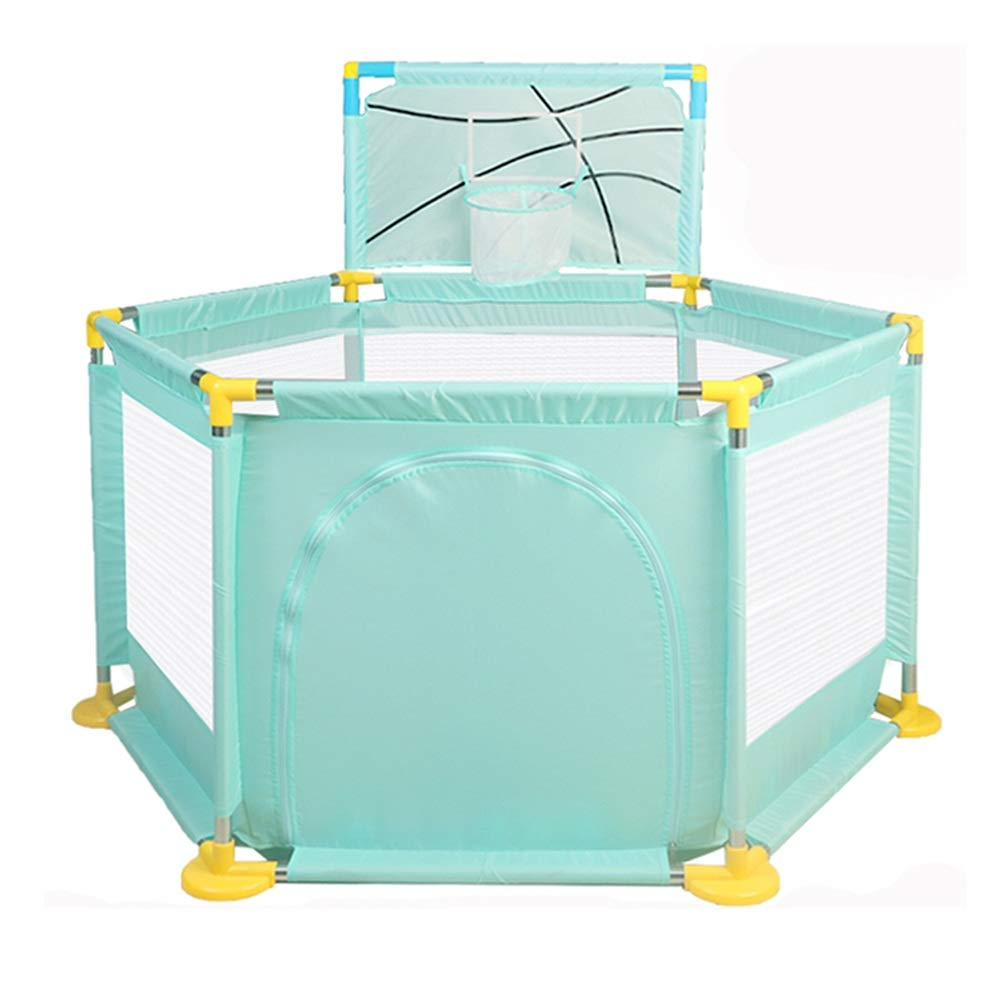 YNN 子供の安全フェンス、4つのパネルポータブル折りたたみ式、保護フェンス屋内屋外安全ゲームプレイフェンスフェンス   B07LCM316Q