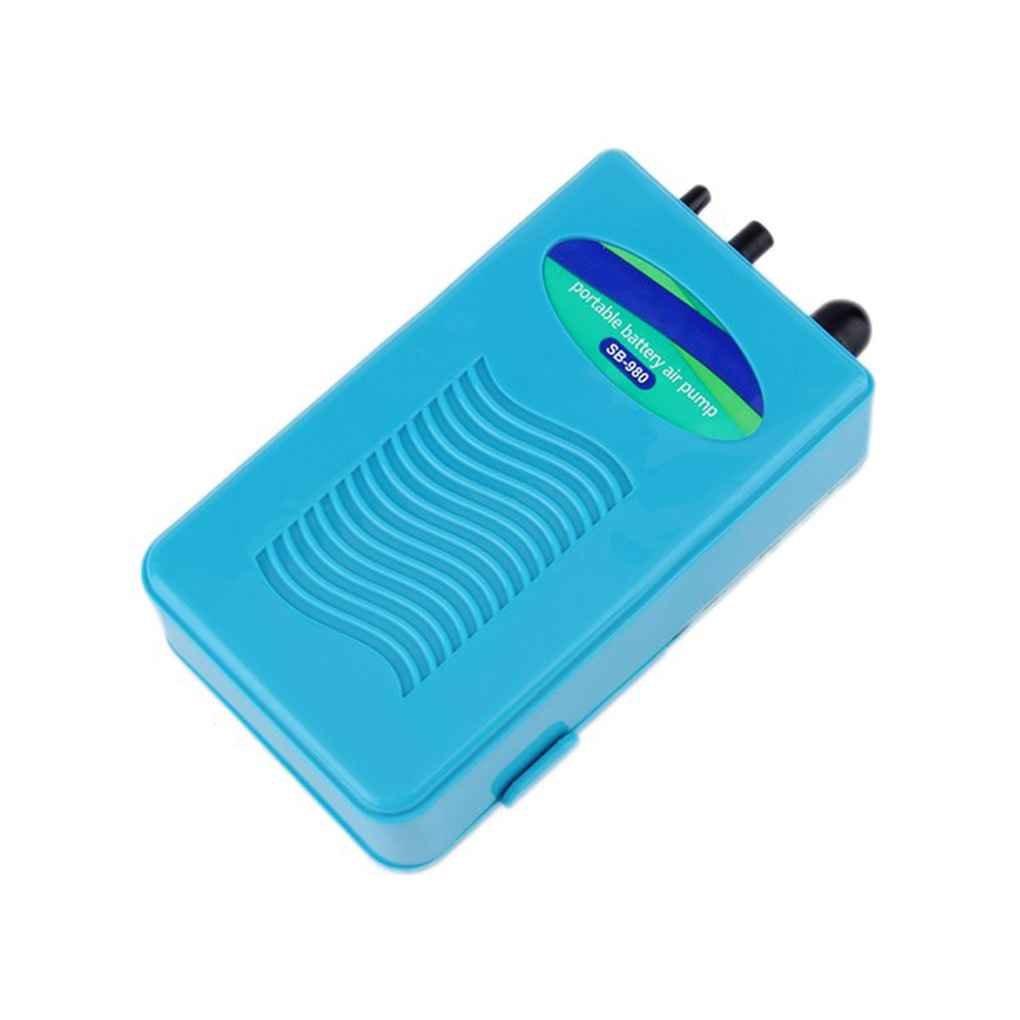 2L/min à piles à sec portable étanche poissons d'aquarium d'air oxygénateur pompe Republe