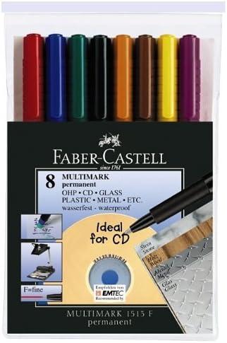 Faber Castell 152478 - Pack de 8 marcadores permanente: Amazon.es ...