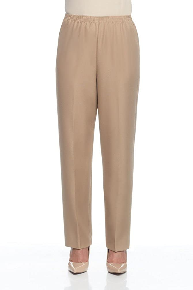 Alfred Dunner Polyester Pull-On Pants - Petite Alfred Dunner 029408244809-$P