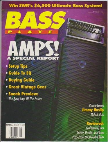 Bass Player Magazine (August 1992) (Amps! A Special Report + Private Lesson - Jimmy Haslip - Melodic - Haslip Jimmy Bass