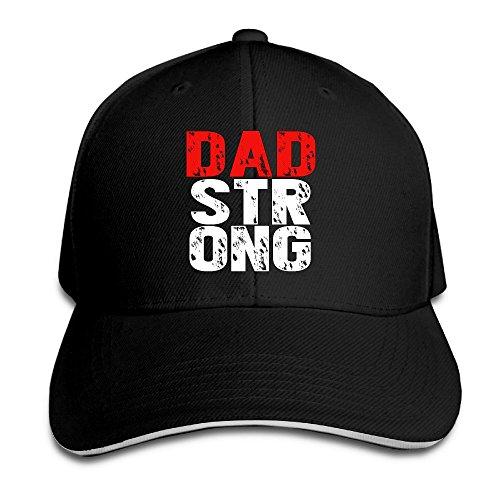 Fortinyro Dad Strong Men's Contrast Baseball Cap Sandwich Peak Black (Rorschach Hat)