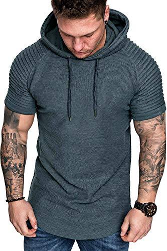 Ekaliy Men Fashion Workout Hoodies Sweatshirts Pullover Long Sleeve Athletic Shirts Sport Wear