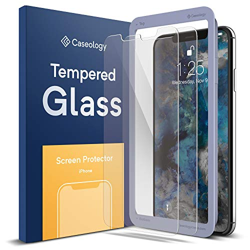 Caseology for iPhone Xs Max Screen Protector [Tempered Glass with Guide Frame] - Easy Installation Scratch Resistant Screen Protector for iPhone Xs Max 6.5 (2018) - 2 ()