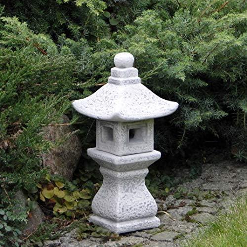 Große massive Tachi-Gata japanische Steinlaterne Oki Gata aus Steinguss frostfes