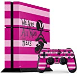 Alice in Wonderland PS4 Console and Controller Bundle Skin - Cheshire Cat We Are All Mad Here | Disney & Skinit Skin
