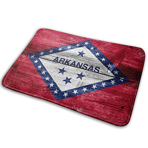 Kjfini Arkansas State Flag Indoor Outdoor Door Mat, Boot Scraper Mats, EntrywayNon Slip Rugs
