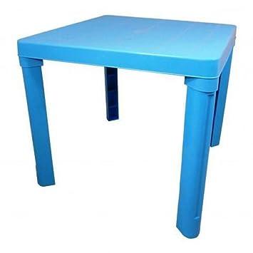 Amazon De Kindertisch Blau Aus Kunststoff Fur Drinnen Und