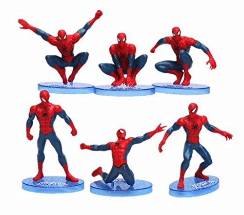 Spiderman Cake Topper Figurine Various Random Spiderman Designs