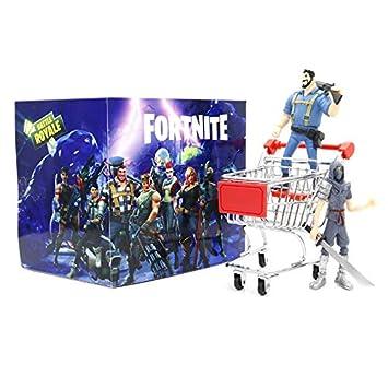 Figura de acción de PVC de Fortnite de dibujos animados, 8 muñecas, regalo de la fortaleza de la noche + juego de carrito de la compra 8pcs fortress night ...
