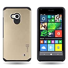CoverON® for Microsoft Lumia 640 Hybrid Case [Slim Guard Series] Protective Full Body Shockproof Tough Thin Phone Cover - (Gold) …