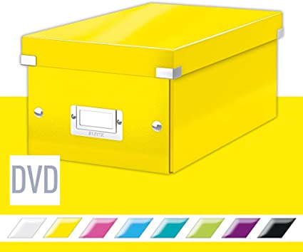 Leitz Boite De Rangement Format Dvd Jaune Click Store 60420016 Amazon Fr Fournitures De Bureau